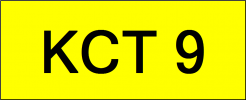 VIP Nice Number Plate (KCT9) All Plate