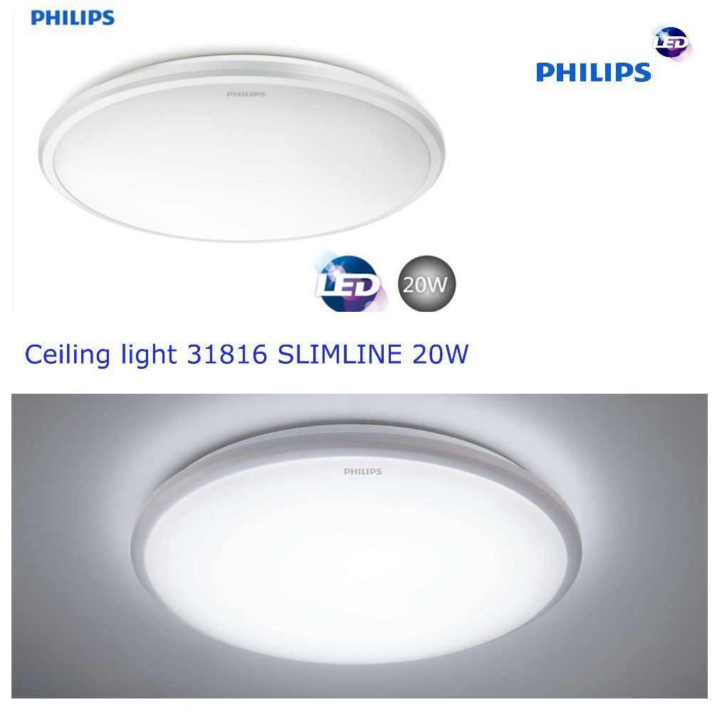 PHILIPS 31816 SLIMLINE 20W Ceiling Light Warm White (3000k
