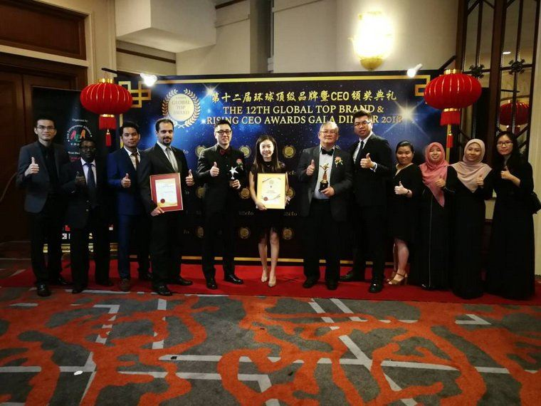 Global Top Brand Excellence Award and Asia Entrepreneur Of The Year Award presented to Fictron