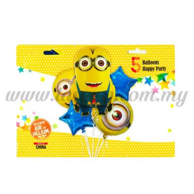 Foil Balloon Set (Minion) - 5in1 (FB-MC-T014)