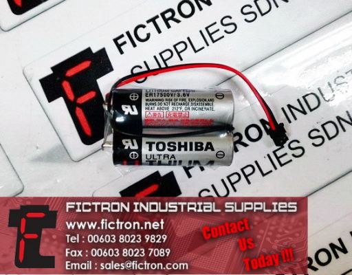 ER17500V/3.6V ER17500V3.6V ER17500V 3.6V TOSHIBA Lithium Battery Pair 5400mAh Capacity Battery Supply Fictron Industrial Supplies