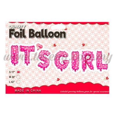 17inch It's Girl Foil Balloon Set *Pink (FB-BY-S1701P)