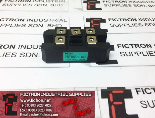 6RII100G-160 FUJI ELECTRIC 100A 1600V Power Module Supply, Sale by Fictron Industrial Supplies