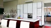 Aluminium kitchen cabinet - Serdang I-Shape kitchen design Aluminium kitchen cabinet