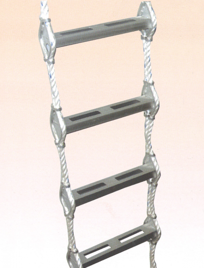 LD13) Aluminium Alloy Rope Ladders with GS Type Oval Step