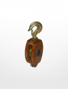 RE01) Wooden Block with Hook Fitting (Single Sheave) Rigging Equipment Marine & Offshore
