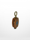 RE02) Wooden Block with Shivel Oval Eye (Single Sheave) Rigging Equipment Marine & Offshore