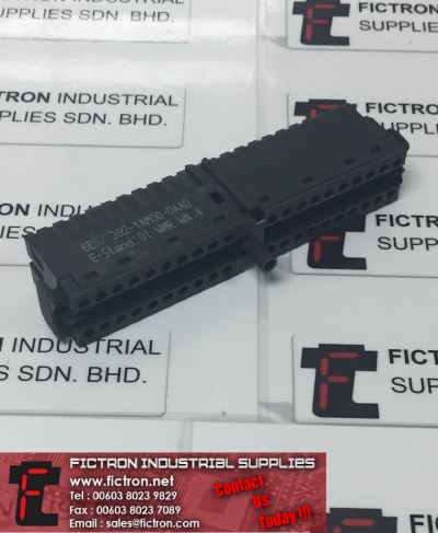 6ES7 392-1AM00-0AA0 6ES73921AM000AA0 SIEMENS SIMATIC S7-300 Front Connector with Screw Contacts 40-Pin Supply By Fictron