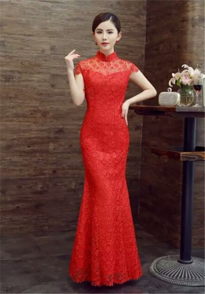 Cheongsum (Long Red 002)