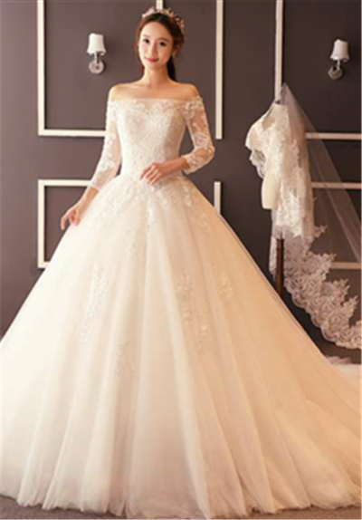 Wedding Gown (White Bridal Gown 004)