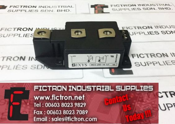 MCC 250-16IO1 MCC25016IO1 IXYS Power Module Supply, Sale By Fictron Industrial Supplies