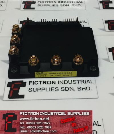 6MBP75RA120-05 6MBP75RA12005 FUJI ELECTRIC 75A 1200V Power Module Supply, Sale By Fictron Industrial Supplies