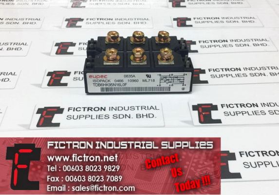 TDB6HK95N16L0F EUPEC ISOPACK Rectifying Power Module Power Rectifier Supply, Sale By Fictron Industrial Supplies
