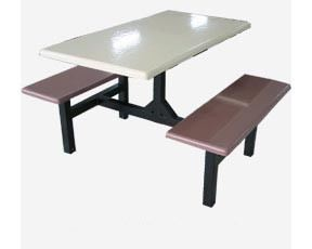 AK 404 (S) - FIBREGLASS TABLE WITH BENCH 4 Seater Canteen Table (Fibreglass Table Top) Fibreglass Furniture