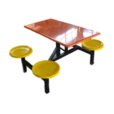 AK 403 (S) - FIBREGLASS TABLE WITH STOOL 4 Seater Canteen Table (Fibreglass Table Top) Fibreglass Furniture