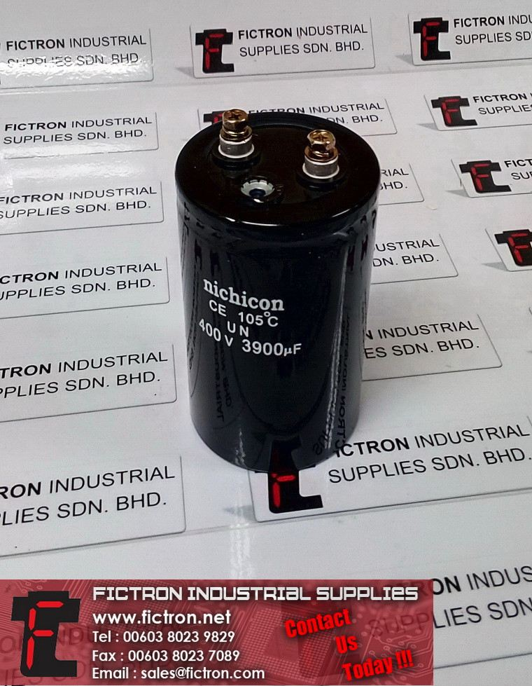 400V 3900uF NICHICON 105C Electrolytic Capacitor Supply Fictron Industrial Supplies NICHICON Capacitors