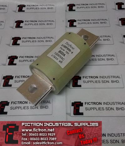 A100P800-4 A100P8004 Form 101 800A 1000VAC TECFUSE Class aR Blade Fuse Supply Fictron Industrial Supplies
