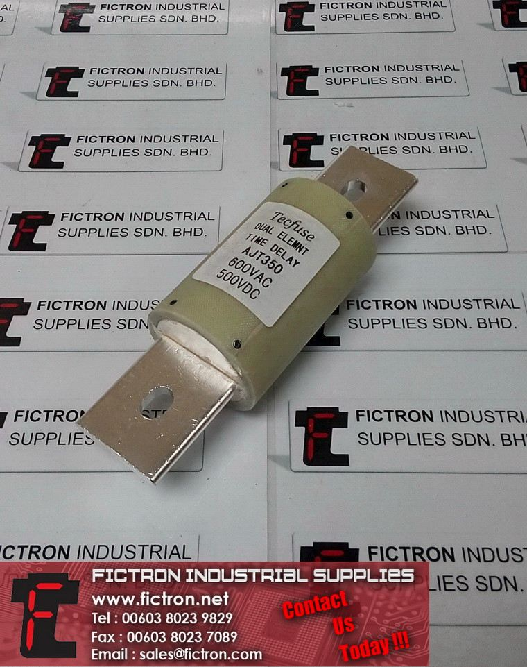 AJT350 600VAC 500VDC TECFUSE Dual Element Time Delay Blade Fuse Supply Fictron Industrial Supplies TECFUSE  Fuse