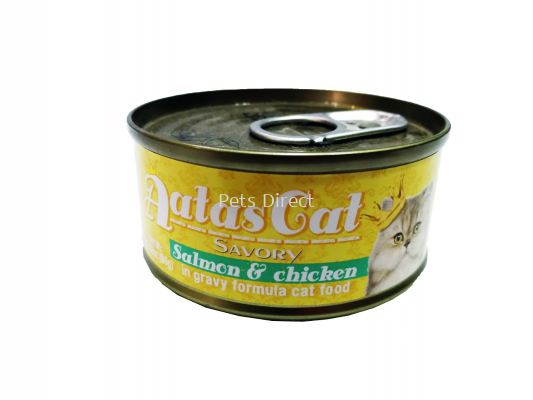 Savory Salmon & Chicken in Gravy Formula Cat Food 80g