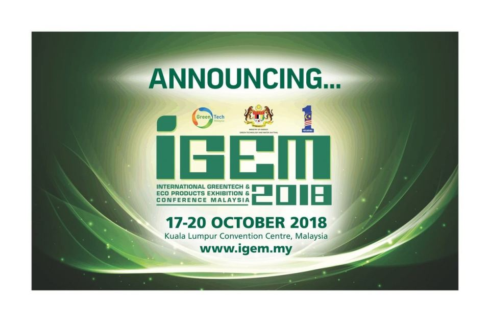 International Greentech & Eco Products Exhibition & Conference Malaysia (iGEM) 2018 October 2018 Year 2018 Past Listing