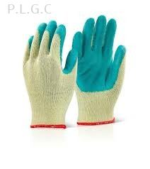 Green latex glove
