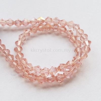 Crystal China, 4mm Bicone, B50 Peach AB