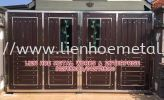S229 Open Gate And Aluminium and Tempered Glass Stainless Steel
