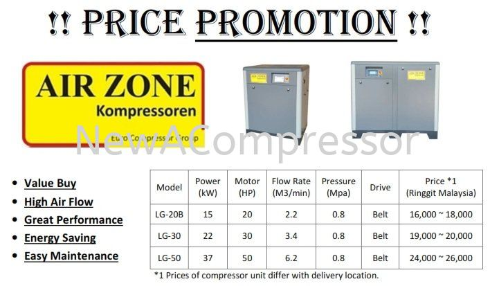 Air Zone Air Compressor Price Promotion