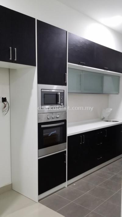 M21 - Kitchen cabinet with melamine door (Black)