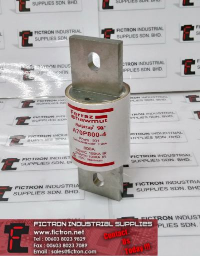 A70P800-4 A70P8004 Form 101 FERRAZ SHAWMUT Semiconductor Fuse 700VAC 800A Fuse Supply, Sale By Fictron Industrial Supplies