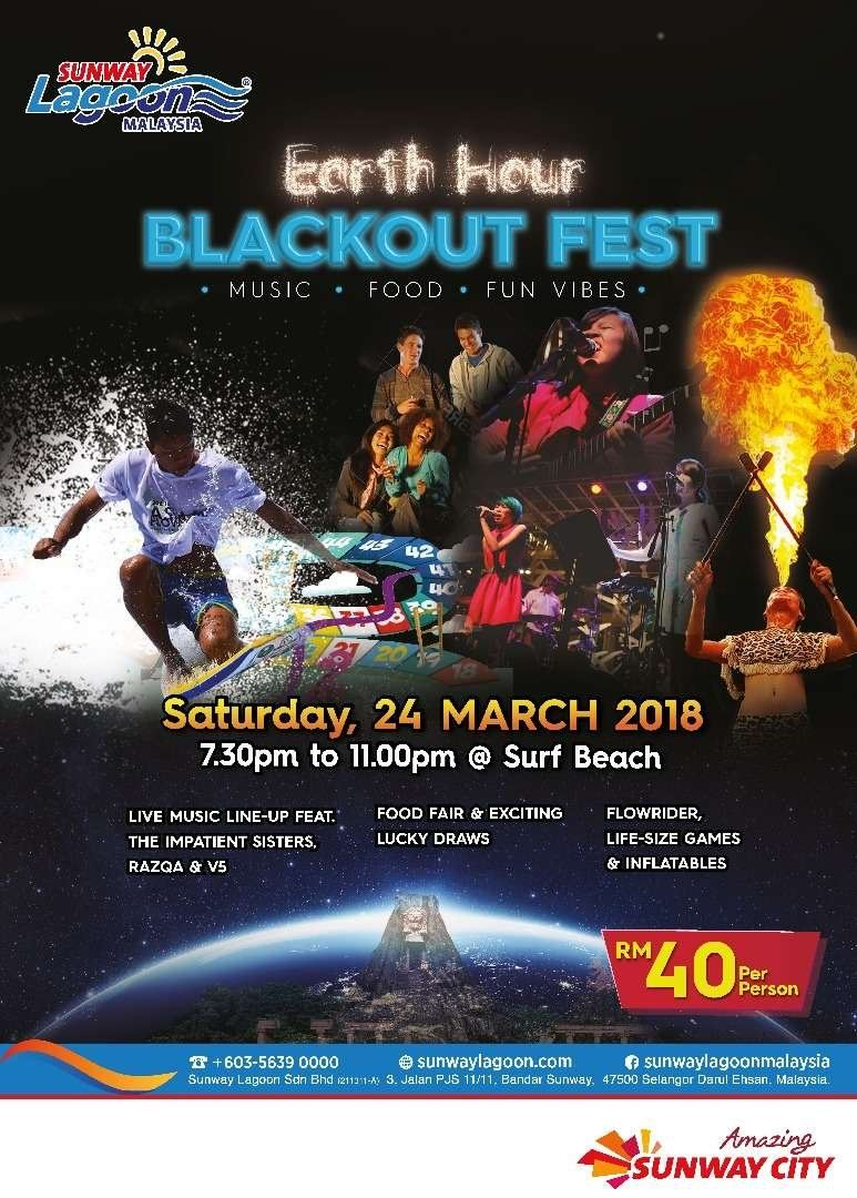 EARTH HOUR BLACKOUT FEST March 2018 Year 2018 Past Listing