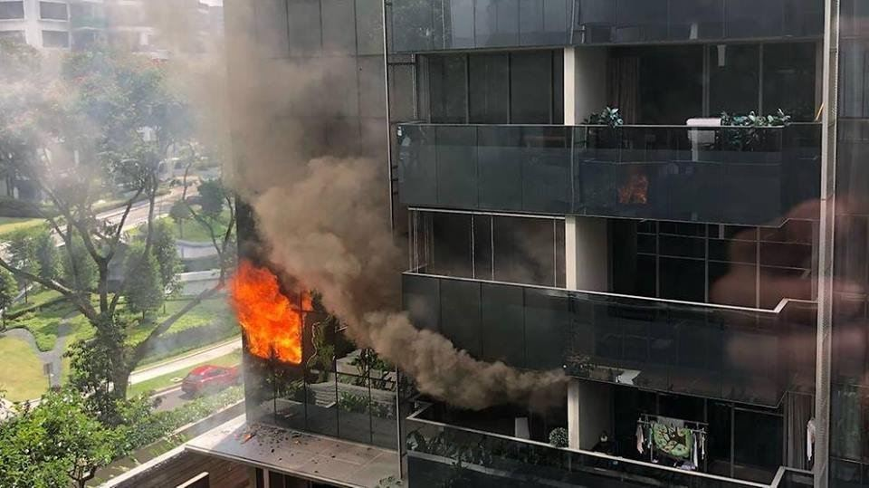 Fire breaks out at Leedon Residence near Farrer Road