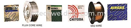 Flux Core Wires, MIG Wires, Aluminium Wires, Stainless Steel Mig Wires WELDING CONSUMABLES
