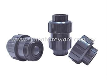 PVC Double Union Ball Check Valve