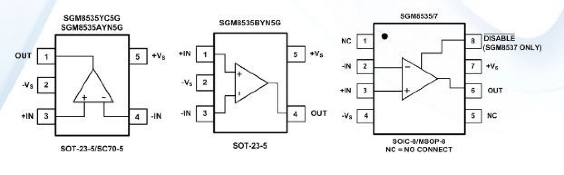 Micro Power Opamps Selangor Penang Malaysia Kuala Lumpur Kl Rail To Output Differential Amplifier Sgm8535 15mhz Operational