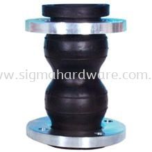 Double Bellow Rubber Flexible Joint Flange Type