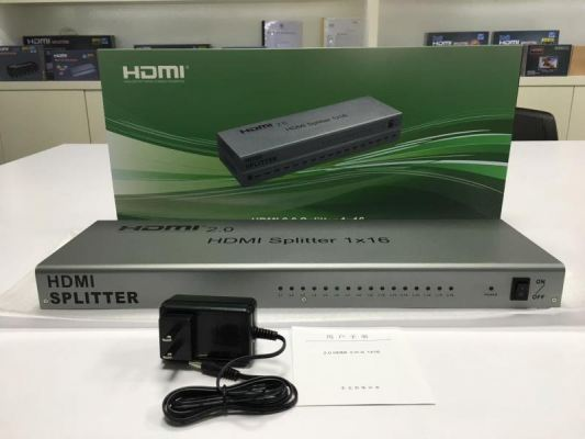 HDMI 2.0 4K Splitter 1x16 (grey)