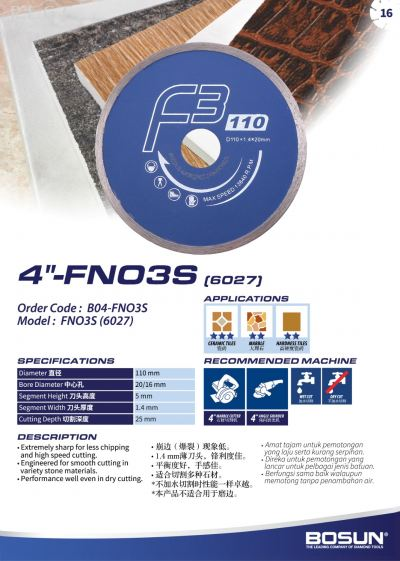 """4"""" FNO3S"""