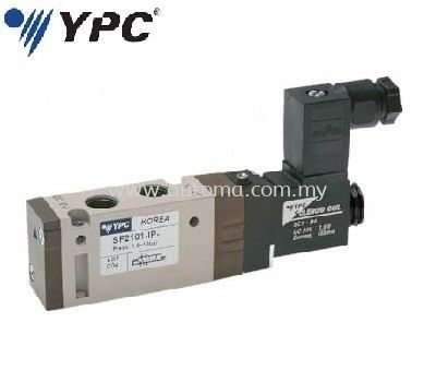 "PNEUMATIC VALVE 5/2-WAY 1/8"" SINGLE COIL #SF2101-IP"