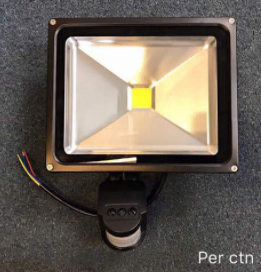 LED PIR SENSOR FLOODLIGHT 30W
