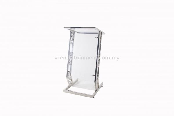 Stainless Steel Rostrum with Acrylic Straight