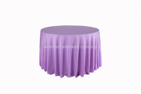 Round Table Cloth - Light Purple