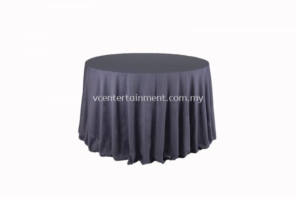 Round Table Cloth - Dark Grey