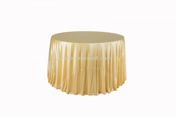 Round Table Cloth - Light Gold