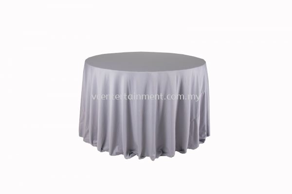 Round Table Cloth - Light Grey