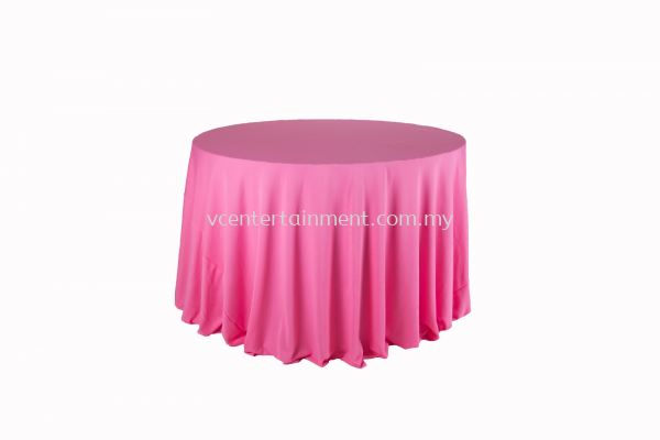 Round Table Cloth - Pink