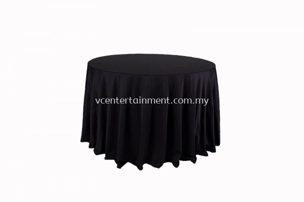 Round Table Cloth - Black