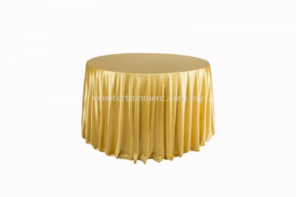 Round Table Cloth - Dark Gold