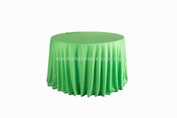 Round Table Cloth - Light Green