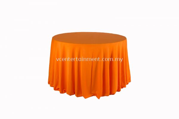 Round Table Cloth - Orange